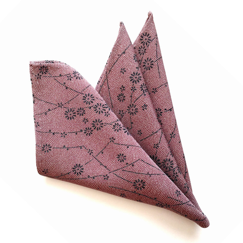shark skin pattern pocket square