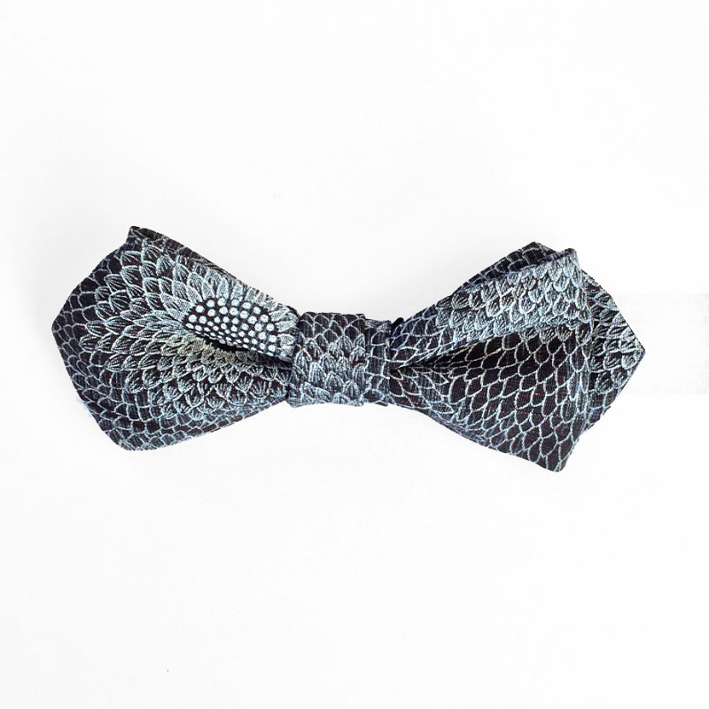 Dragon Scale Chrysanthemum silk bow tiePattern Bow Tie