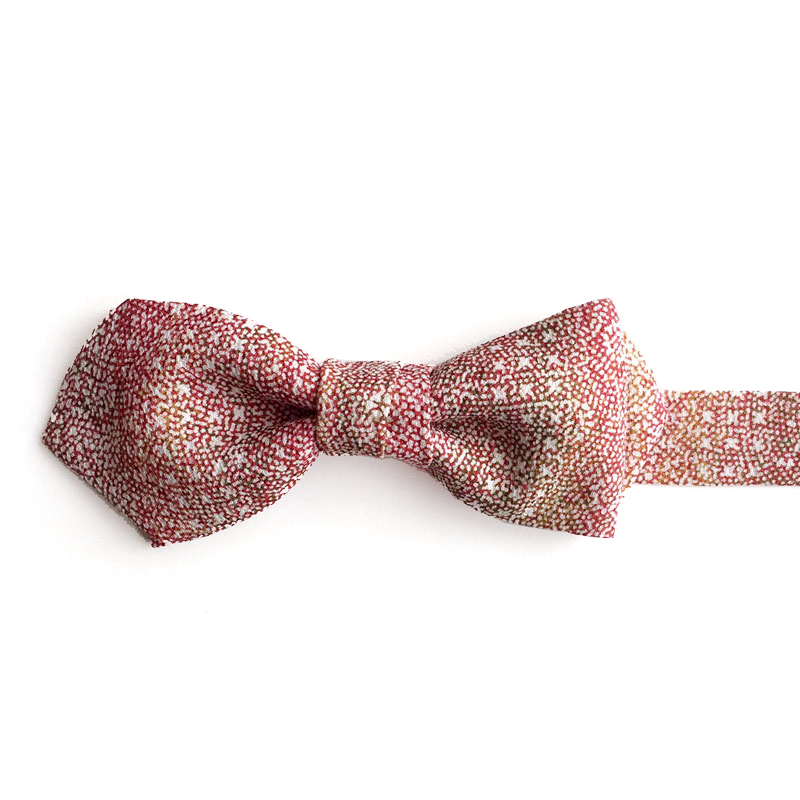 Flower waves pattern bow tie