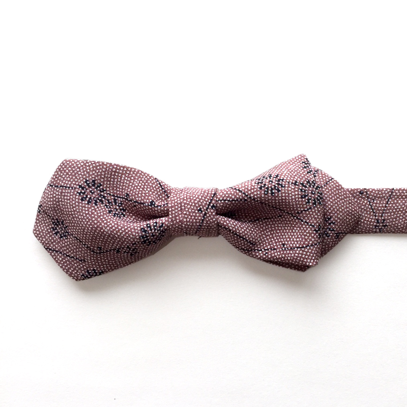 Same-komon shark skin pattern bow tie