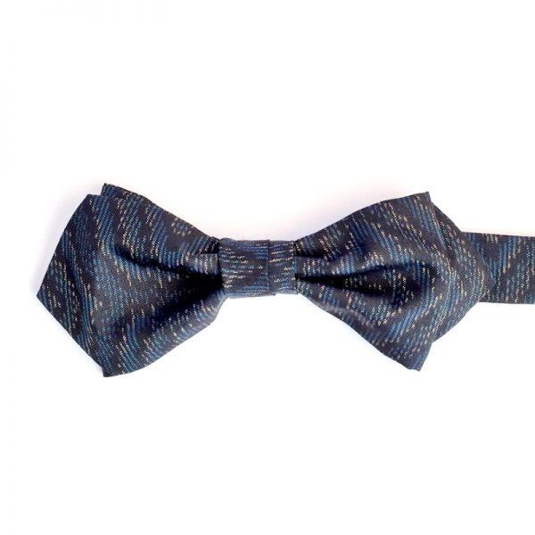 Oshima tsumugi turtle shell pattern bow tie