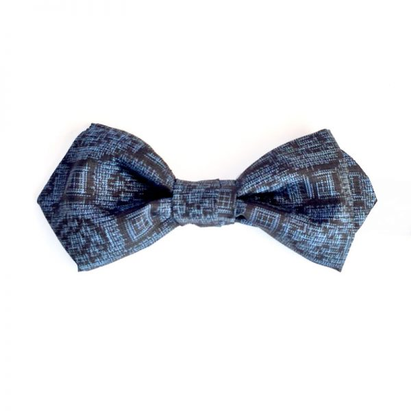 tsumugi Geometric pattern bow tie