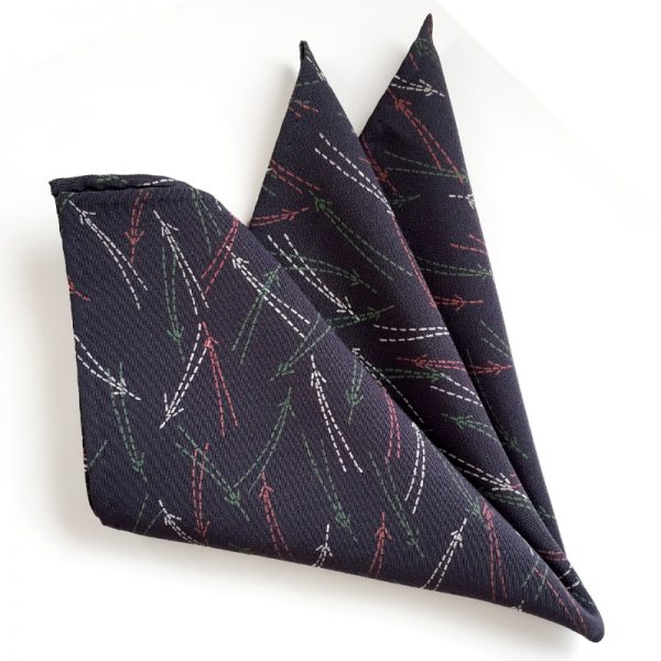 pine needle pattern pocket square