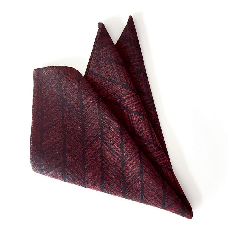 Yabane, Arrow Fletching Pattern pocket square