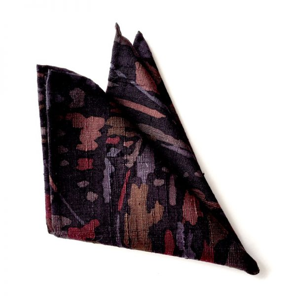 Abstract forest landscape pattern pocket square