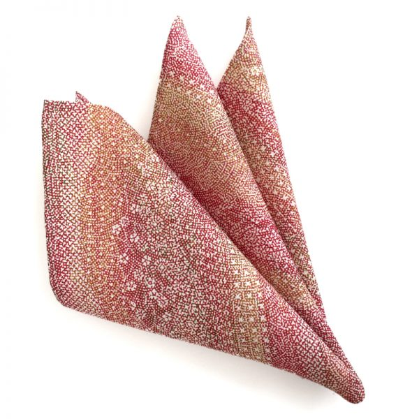 abstract floral pattern pocket square