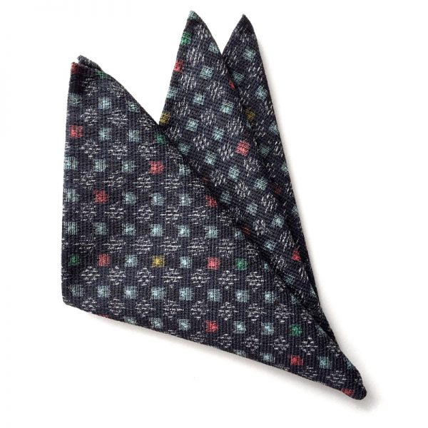 Edo-Komon – Koushi Pattern pocket square
