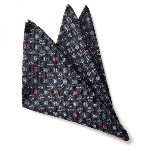Edo-Komon – Koushi Pattern pocket square
