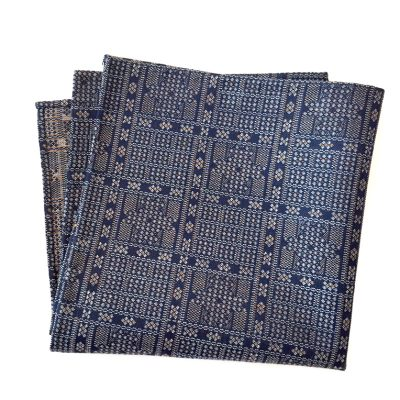 Koushi Pattern – Edo-Komon Silk pocket square