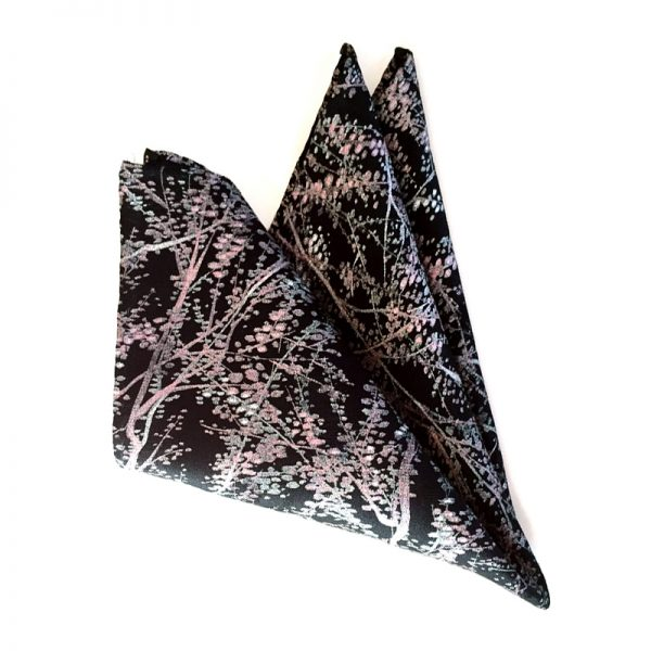 Plum Blossom pocket square