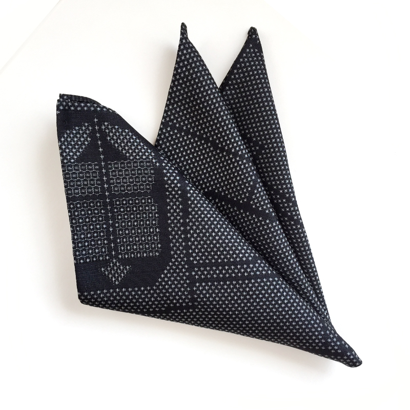 Tsumugi abstract pocket square
