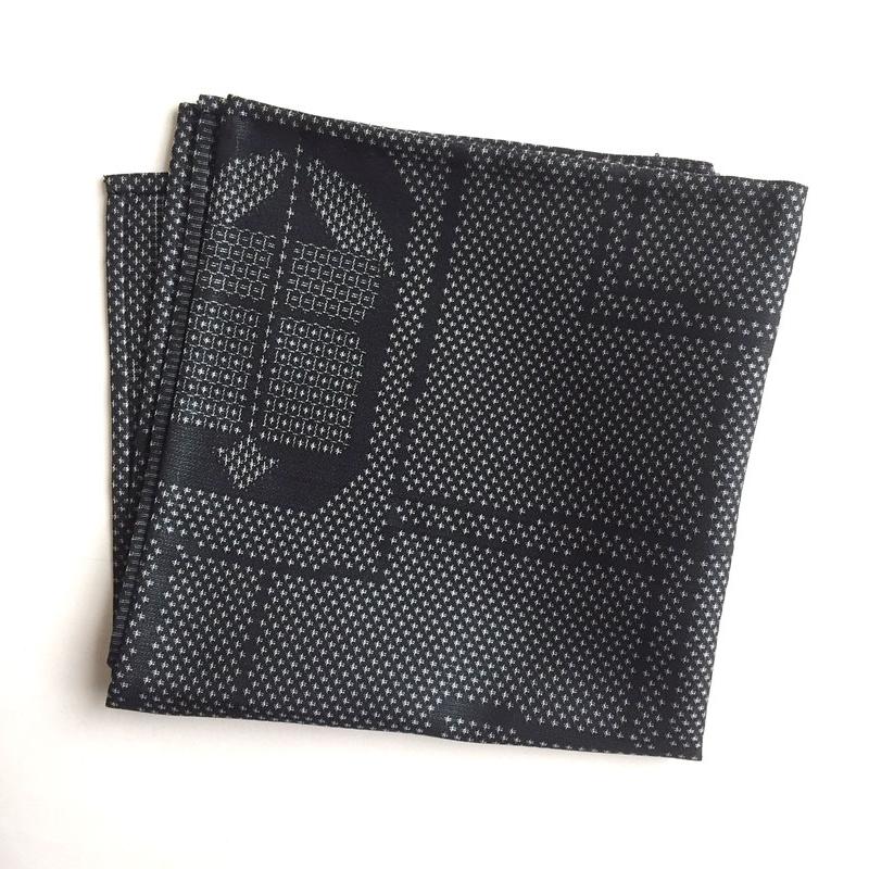 Tsumugi abstract pocket square