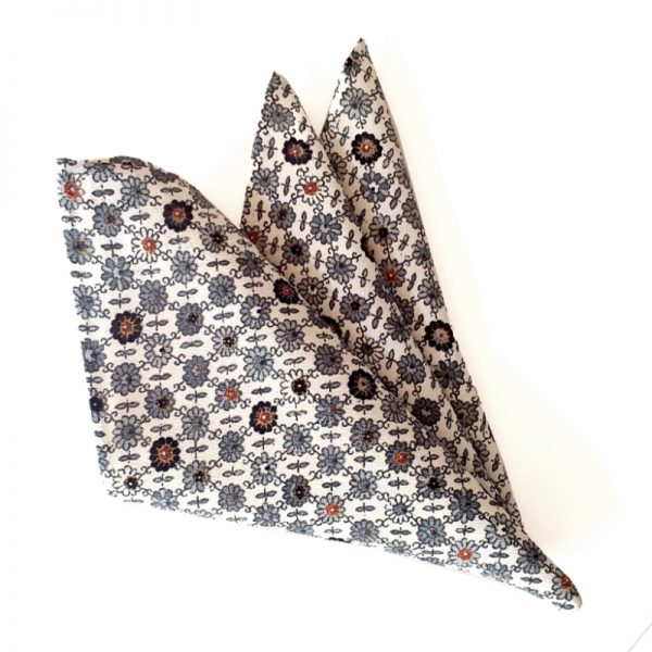 Hana-Goushi pattern pocket square