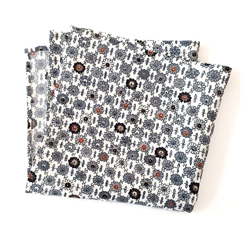 Hana-Goushi pattern pocket square