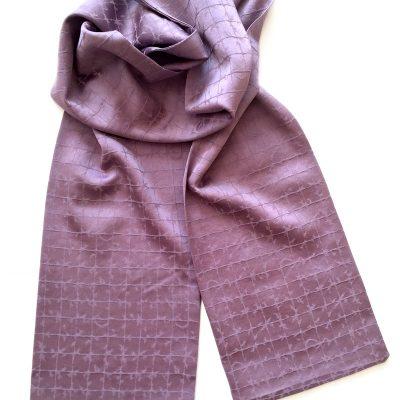 Barb wire pattern silk scarf