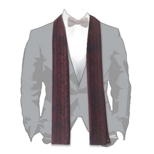 arrow fletching pattern silk scarf