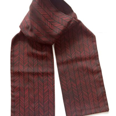 Arrow fletch pattern silk scarf