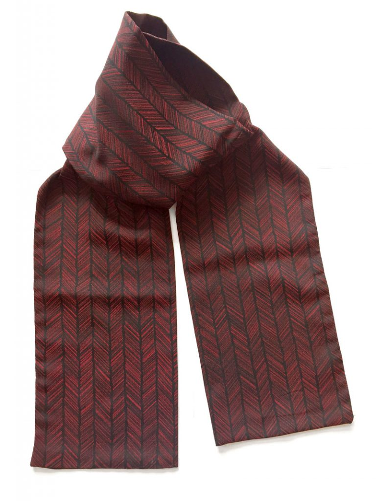 Arrow fletch pattern silk scarf