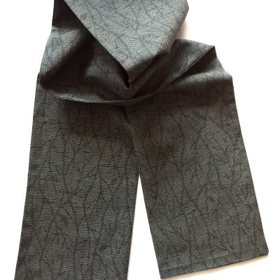 Tree branch pattern vintage Japanese wool scarf