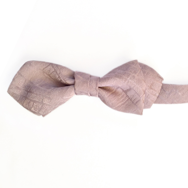 stone road pattern silk bow tie