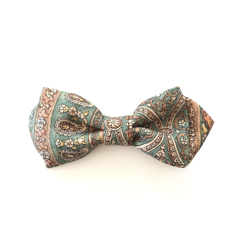 Japanese vintage silk bow tie