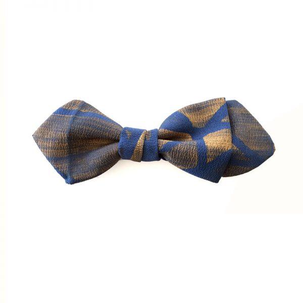 Vintage Japanese silk damask bow tie