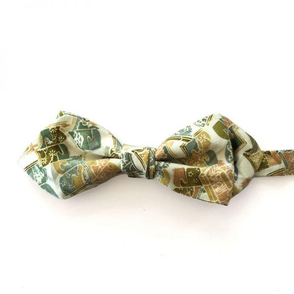 Vintage Japanese silk bow tie