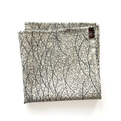 Winter Grass pattern silk pocket square