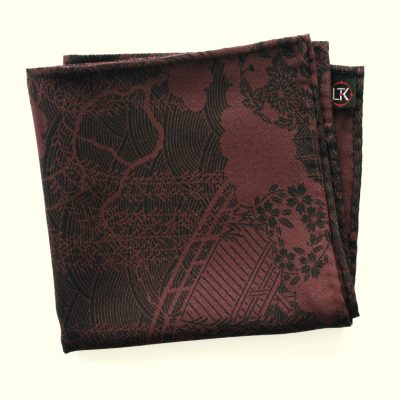 Vintage Japanese silk pocket square