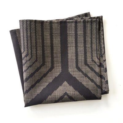 oshima Tsumugi silk pocket square