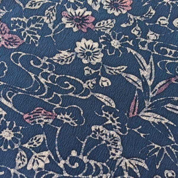 Garden mist pattern vintage Japanese silk bow ties