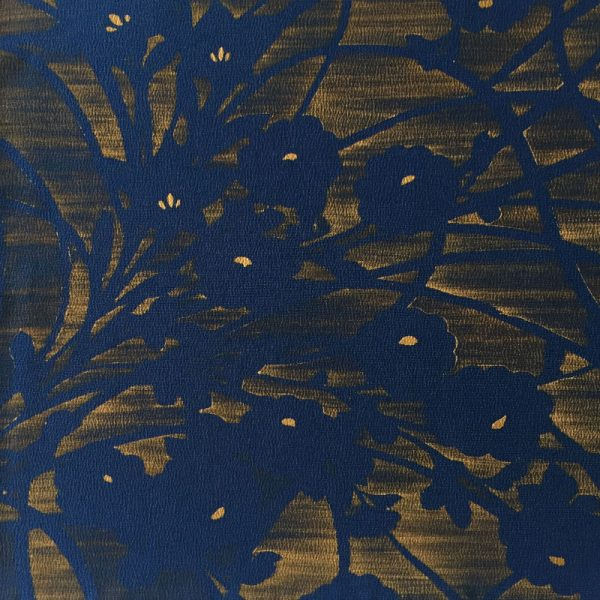 midnight floral pattern vintage Japanese silk bow ties