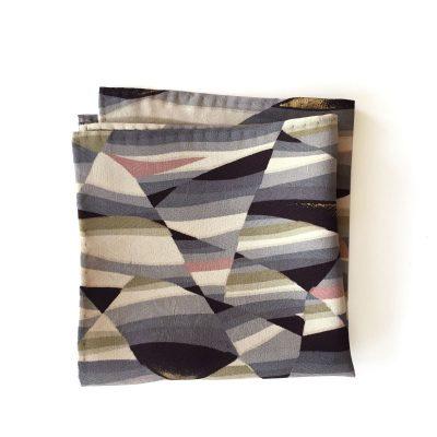 Japanese vintage silk pocket square