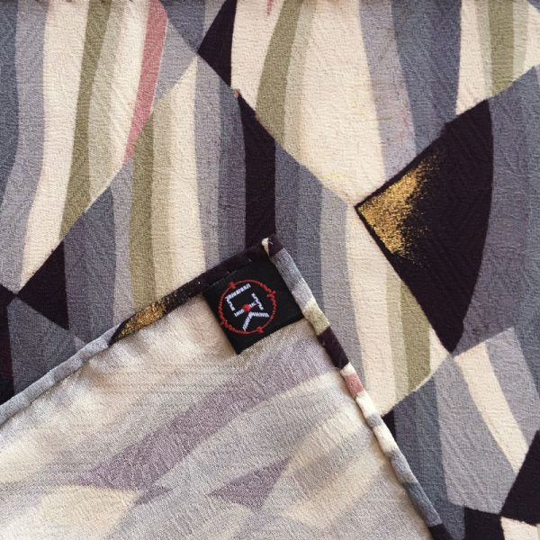 Japanese vintage silk pocket square
